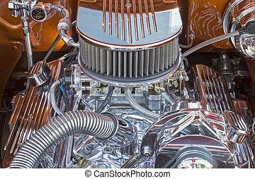 Customized V8 automobile engine