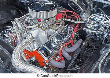 V8 engine compartment