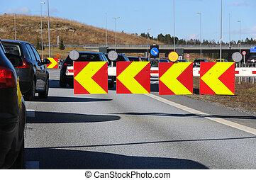 Customs control - E-6 - Svinesund, the Norwegian side....