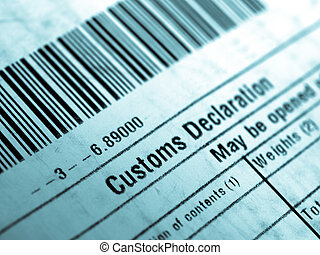 Customs declaration on a foreign packet parcel - cool...