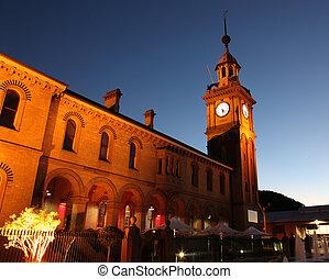 Customs House - Newcastle Australia - Illuminated night ...