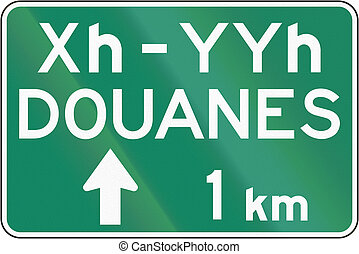 Specified times in french canada  Supplemental warning road