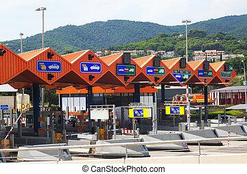 Customs toll road in Catalonia - Customs toll road in...