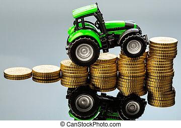 custos ascendentes, agricultura