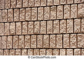 Cut Aggregate Block Wall