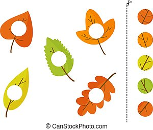 Cut and glue parts of autumn leaves.