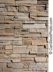 Cut and Stacked Stone wall