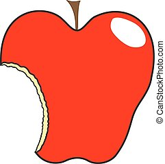 Cut Apple Shape