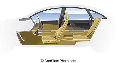 Cut-away  car - Cutaway Car Illustrations.
