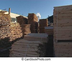 cut boards smoke chimney