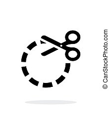 Cut circle icon on white background.