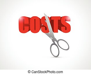 cut costs concept illustration design over white