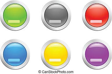 Cut down button. [Vector]