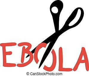 Cut ebola - Creative design of cut ebola