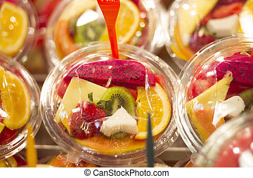 Delicious fresh cut fruit to eat