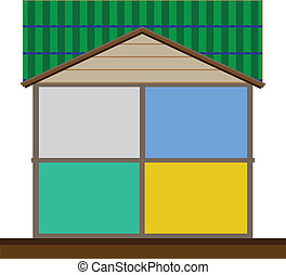 Cut in house interiors Vector ,Empty room,for Designed