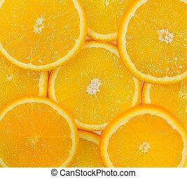 Cut juicy orange fruit
