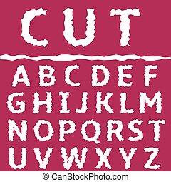 Cut letter set
