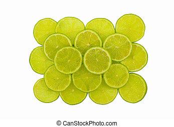 Cut lime fruit