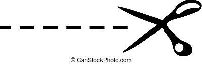cut line symbol - Creative design of cut line symbol