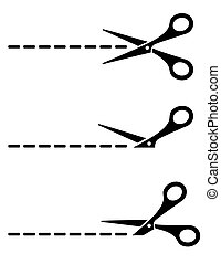 cut lines with scissors