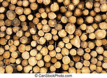 Cut logs background.
