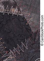textile fabric  - cut manually woven textile fabric