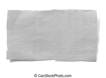 Cut Newspaper - Piece of cut newspaper, isolated on white...