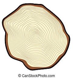 Cut of a tree.