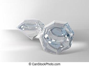 Cut of gemstones. eight cut