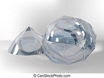 Cut of gemstones. rose cut