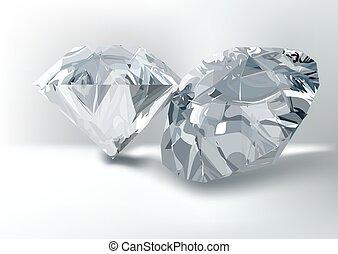 Cut of gemstones. round diamond