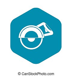 Cut off machine icon, simple style