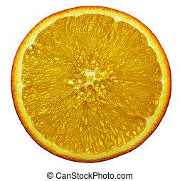 Cut orange closeup