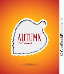 Cut out autumn leaf frame