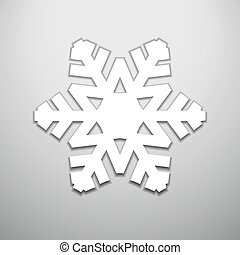 Card with cut out christmas snowflake silhouette