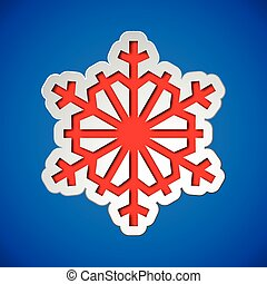 Cut out christmas snowflake - Card with cut out christmas...