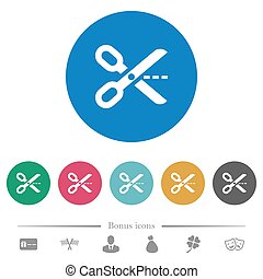 Cut out flat round icons