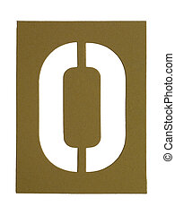 cut out letter o