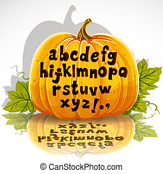 Cut out pumpkin small letters