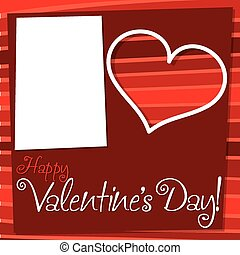 Cut out retro Valentine's Day card in vector format.