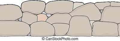 Cut Out Short Stone Wall