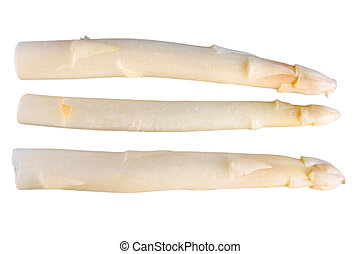 cut out white asparagus on a background