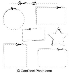 Cut Outs - Cut out shapes with dotted lines and scissors