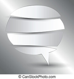 cut paper speech bubble