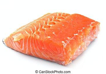 Cut salmon fillet