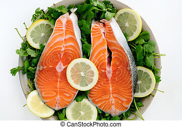 Cut Salmon pieces