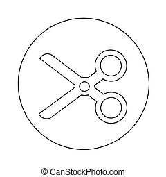Cut scissors icon illustration design