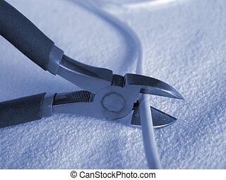 Cut - Nippers cutting a wire