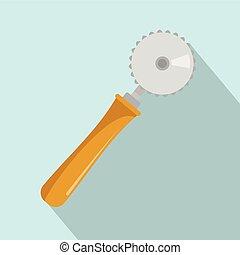 Cut tool icon, flat style